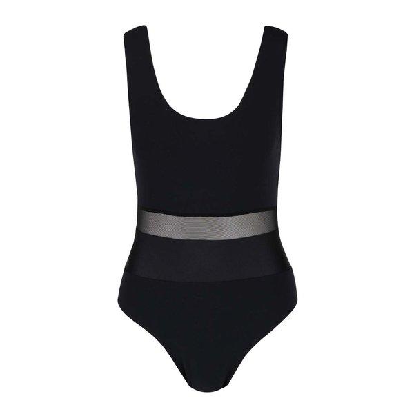 Body negru Quontum cu inserții din plasă de la Quontum in categoria Topuri, tricouri, body-uri