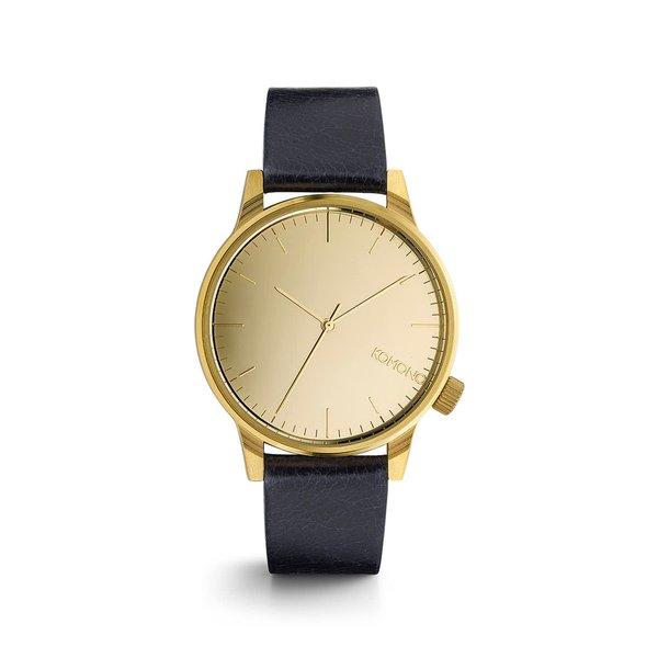 Ceas auriu cu albastru Komono Winston Mirror pentru bărbați