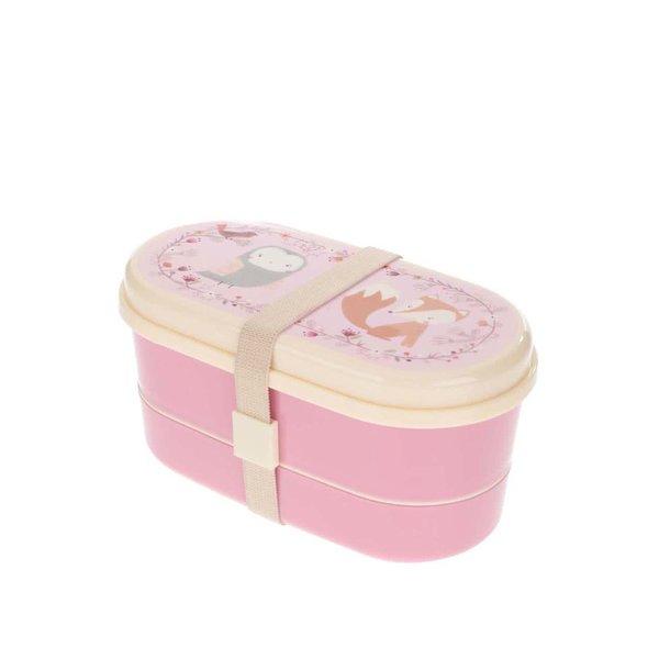 Cutie roz pentru pranz cu imprimeu - Sass & Belle