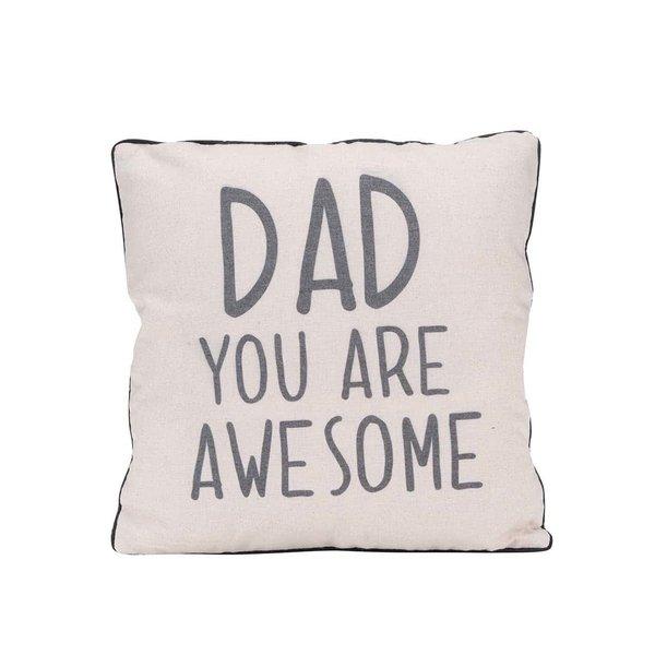 Pernă crem Sass & Belle Dad you are awesome de la Sass & Belle in categoria Pentru dormitor și camera de zi