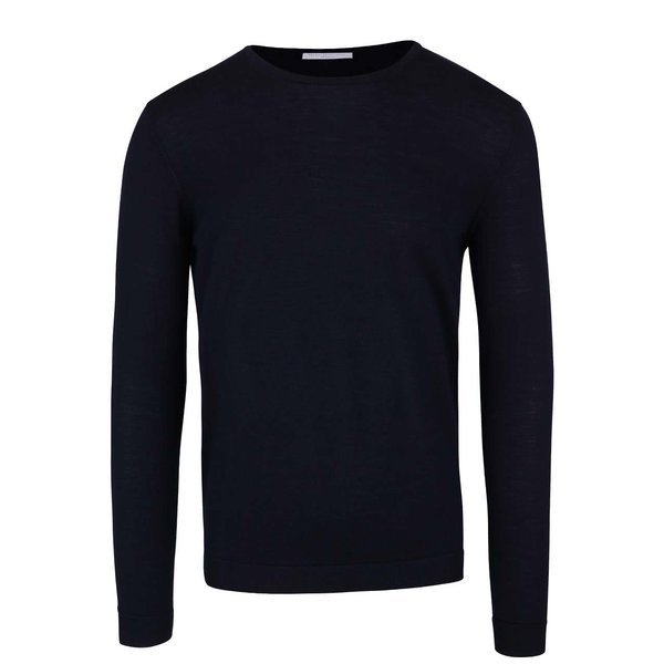 Pulover bleumarin din lana merino - Selected Homme Tower