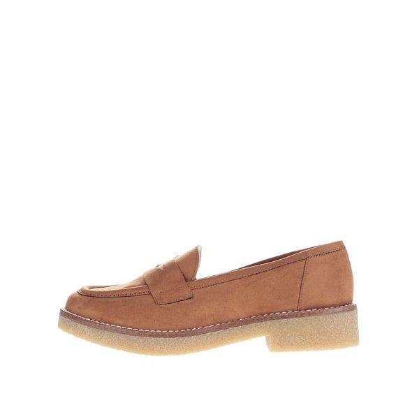 Pantofi loafer maro OJJU Rick din piele întoarsă de la OJJU in categoria pantofi și mocasini