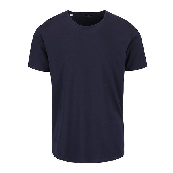 Tricou albastru închis Selected Homme Pima