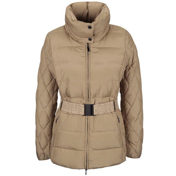 Geacă bej lungă matlasată și impermeabilă Geox de la Geox in categoria Geci, jachete și sacouri