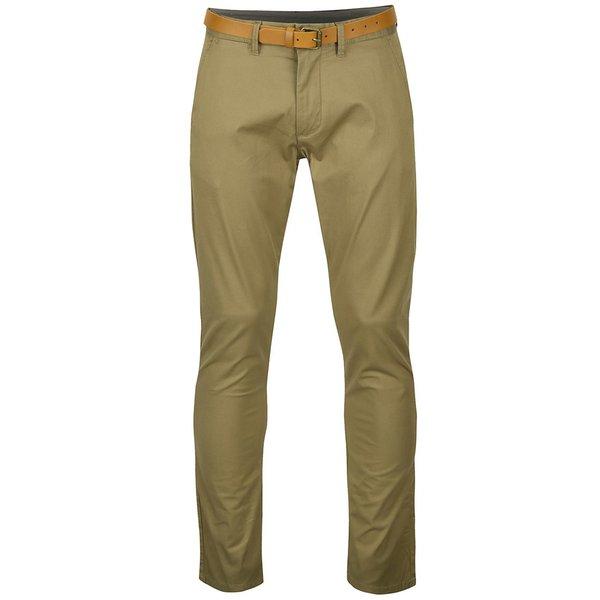 Pantaloni bej chino slim fit Selected Homme Yard