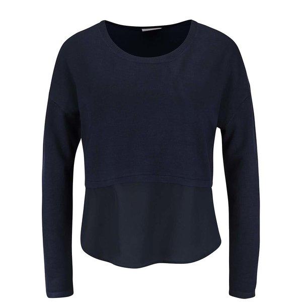 Bluză bleumarin cu insertie de voal VERO MODA Glory