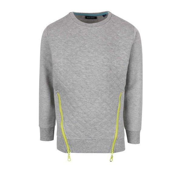 Bluză gri deshis Blue Seven cu fermoare decorative pentru fete