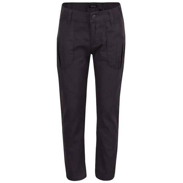 Pantaloni gri inchis Blue Seven din bumbac pentru fete