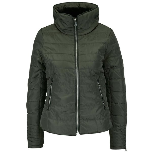 Geacă verde închis VERO MODA Lulu cu guler înalt de la VERO MODA in categoria Geci, jachete și sacouri