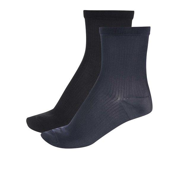 Set 2 perechi șosete Pieces Polly negru și bleumarin de la Pieces in categoria Dresuri si șosete