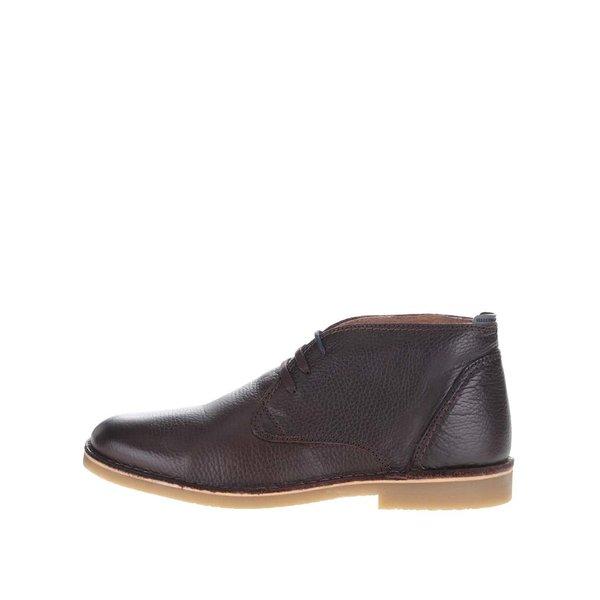 Ghete maro Selected Homme New Royce din piele pentru bărbați de la Selected Homme in categoria pantofi și mocasini