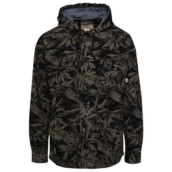 Jachetă negru cu verde Vans Lismore cu imprimeu tropical