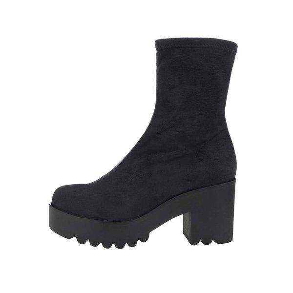 Cizme scurte negre OJJU cu toc de la OJJU in categoria pantofi casual