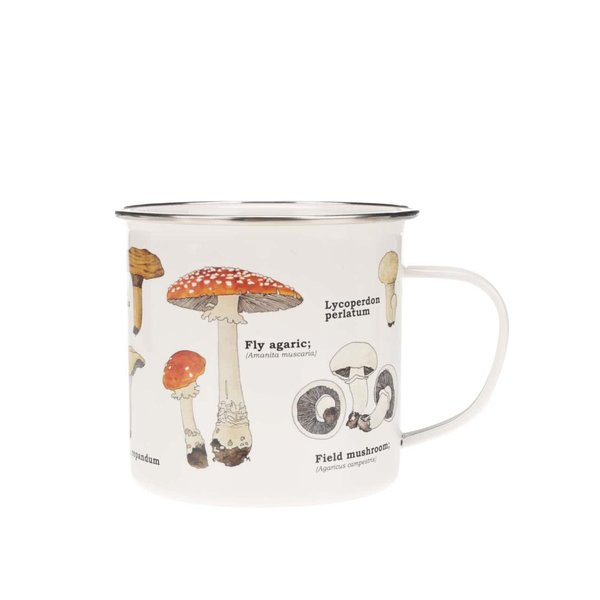 Cană cu imprimeu cu ciuperci Gift Republic de la Gift Republic in categoria Bucătăria