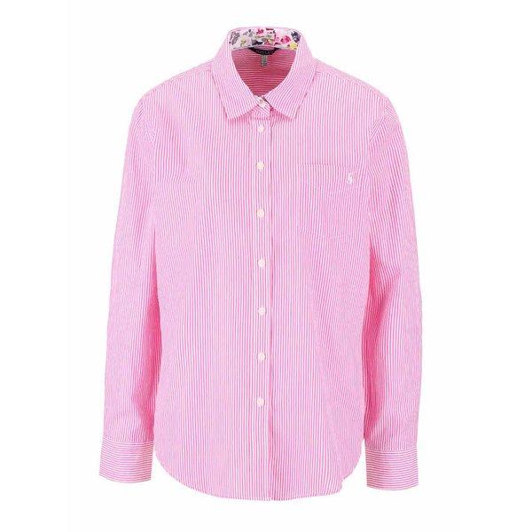 Cămașă roz Tom Joule Lucei cu model în dungi de la Tom Joule in categoria Topuri, tricouri, body-uri