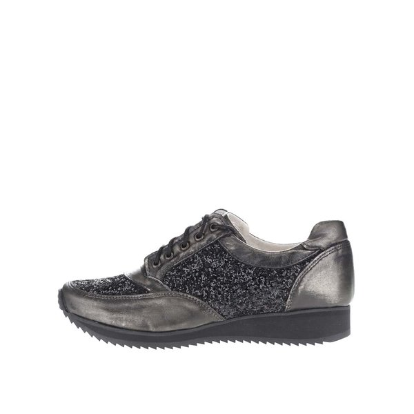 Pantofi sport negri OJJU cu detalii argintii de la OJJU in categoria pantofi sport și teniși
