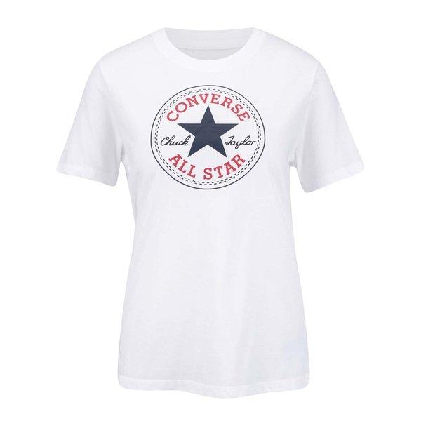 Tricou alb cu logo pentru femei Converse Core