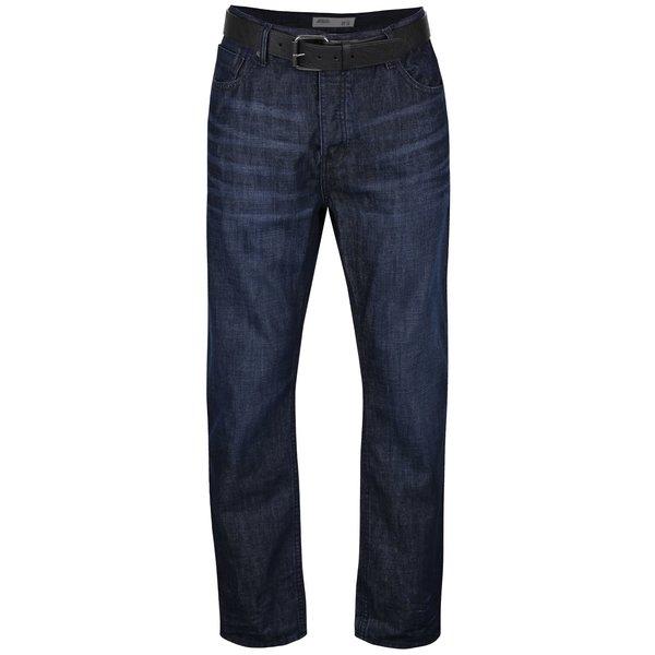 Blugi albastru închis Burton Menswear London din bumbac cu curea de la Burton Menswear London in categoria Blugi, pantaloni, pantaloni scurți