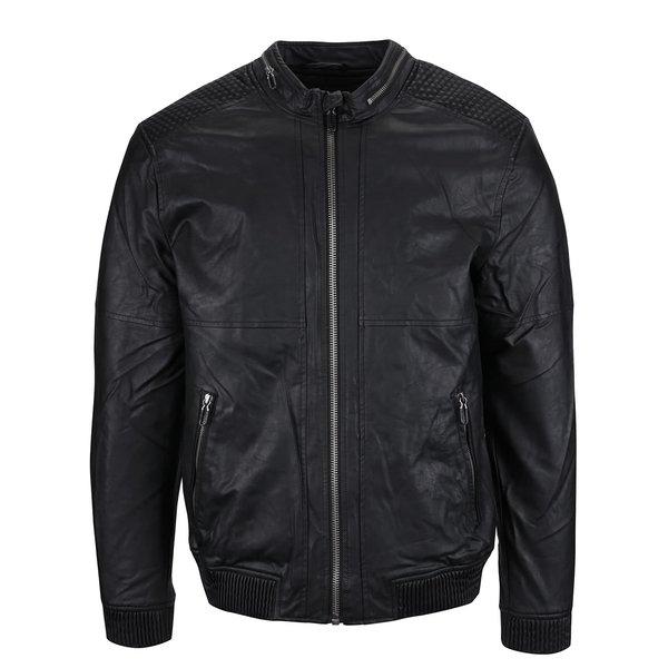 Jachetă neagră ONLY & SONS Leo din piele sintetică de la ONLY & SONS in categoria Geci, paltoane, jachete