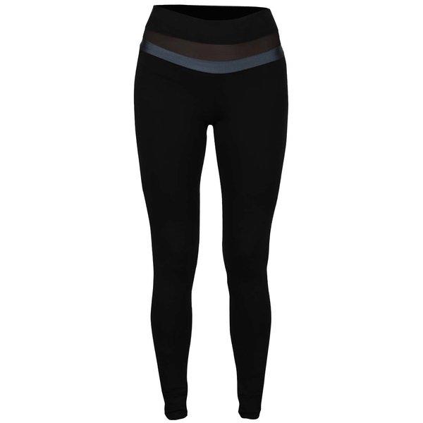 Colanți negri Quontum cu benzi transparente de la Quontum in categoria Blugi, pantaloni, colanți