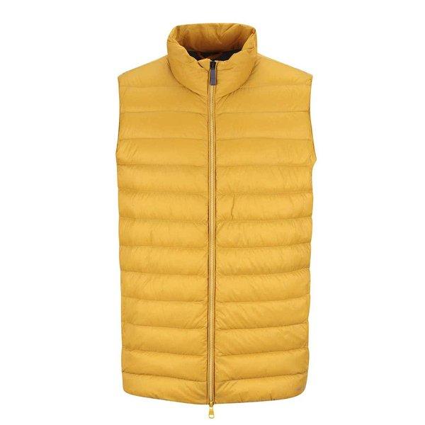 Vestă galbenă matlasată impermeabilă Geox Down de la Geox in categoria Geci, paltoane, jachete