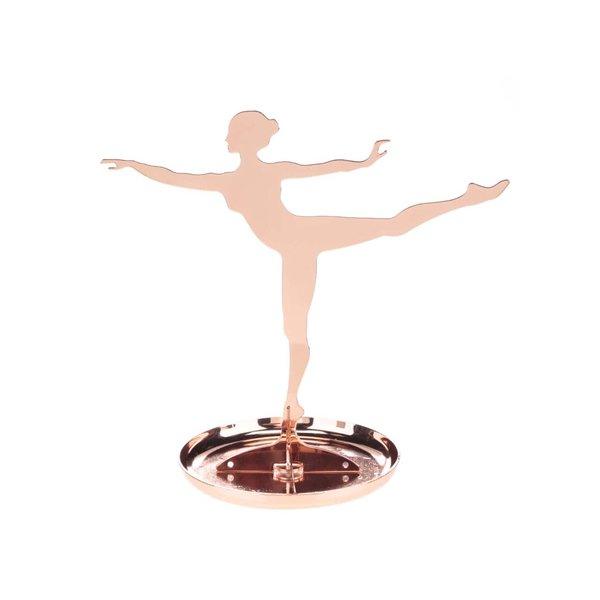 Suport de bijuterii auriu rose Kikkerland Ballerina