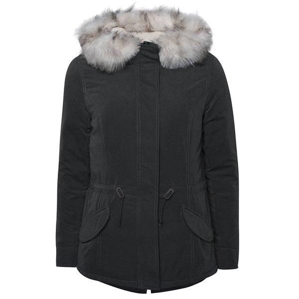 Geacă parka gri închis ONLY Lucca de la ONLY in categoria Geci, paltoane, jachete