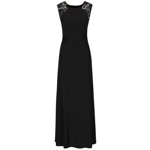 Rochie neagră maxi AX Paris cu detalii din dantelă de la AX Paris in categoria rochii de seară