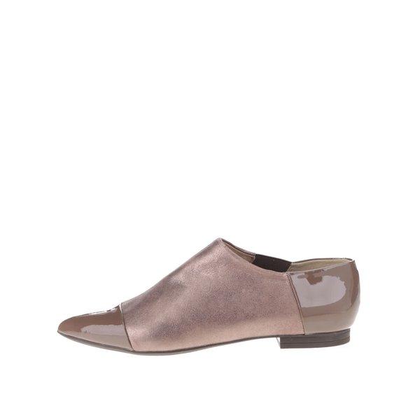 Pantofi maro Geox Rhosyn D cu piele naturală de la Geox in categoria pantofi și mocasini