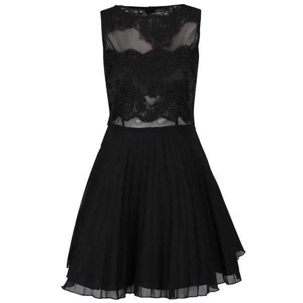 Rochie neagră AX Paris cu detalii din dantelă de la AX Paris in categoria rochii de seară