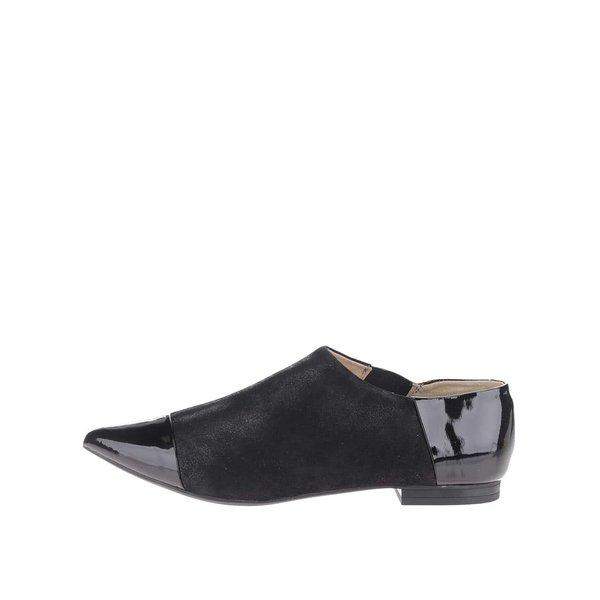 Pantofi negri Geox Rhosyn D cu piele naturală de la Geox in categoria pantofi și mocasini