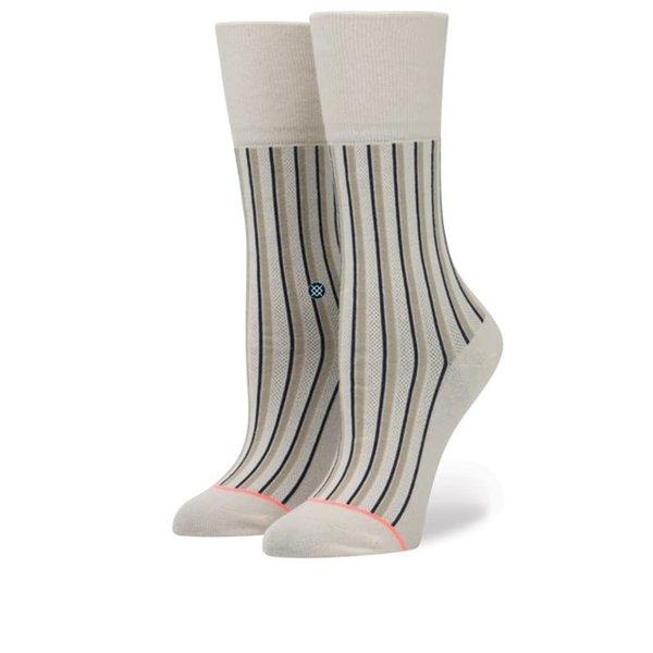 Șosete bej cu dungi Stance Stripe up de damă de la Stance in categoria Dresuri si șosete