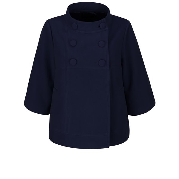 Jachetă bleumarin Fever London Salla cu croi evazat