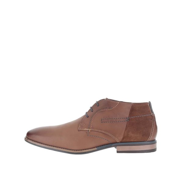 Ghete bărbătești maro din piele bugatti Hugo Evo de la bugatti in categoria pantofi și mocasini