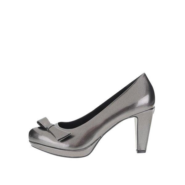 Pantofi cu toc bugatti Haven gri metalic de la bugatti in categoria pantofi cu toc