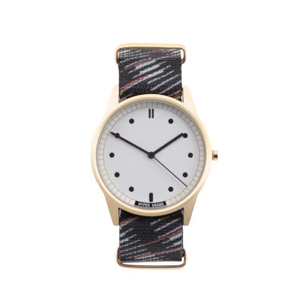 Ceas negru cu model HYPERGRAND pentru bărbați