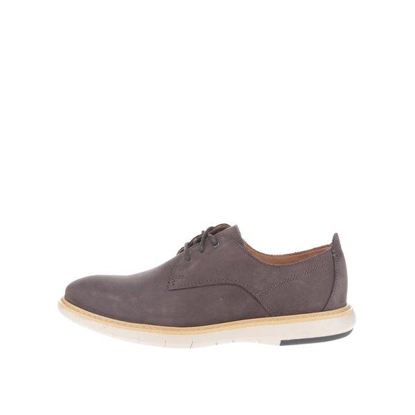 Pantofi maro Clarks Flexton Plain din piele naturală de la Clarks in categoria pantofi și mocasini