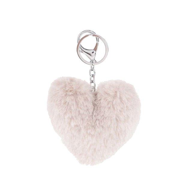 Breloc crem Haily´s Pompom în formă de inimă de la Haily´s in categoria Accesorii