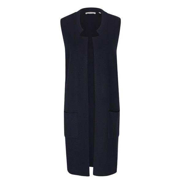 Vestă lungă Rich & Royal albastru închis de la Rich & Royal in categoria Geci, jachete și sacouri
