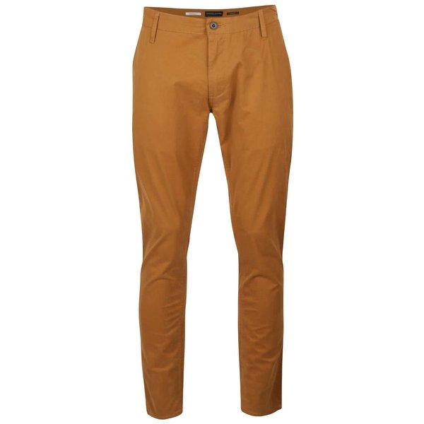Pantaloni chino maro Casual Friday slim fit de la Casual Friday by Blend in categoria Blugi, pantaloni, pantaloni scurți