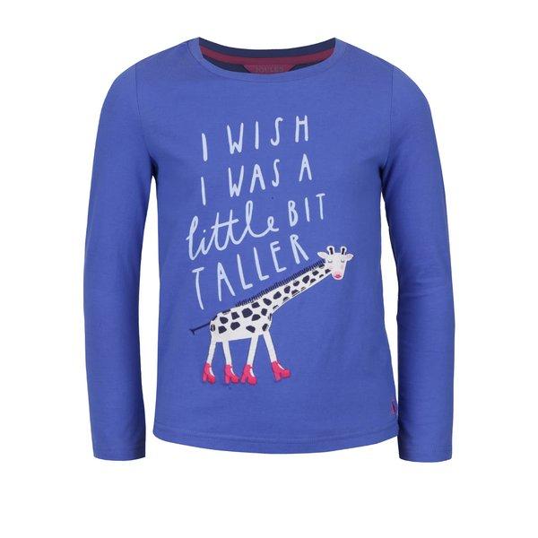 Bluză albastră Tom Joule din bumbac cu print pentru fete de la Tom Joule in categoria Tricouri, camasi