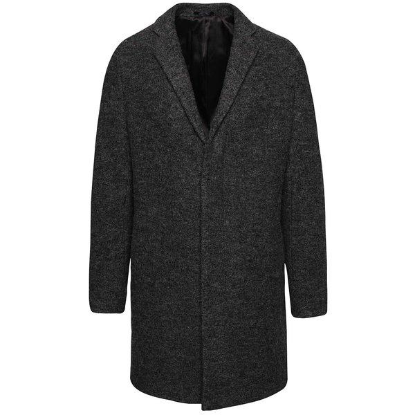 Palton gri închis Selected Homme Brook Boucle de la Selected Homme in categoria Geci, paltoane, jachete