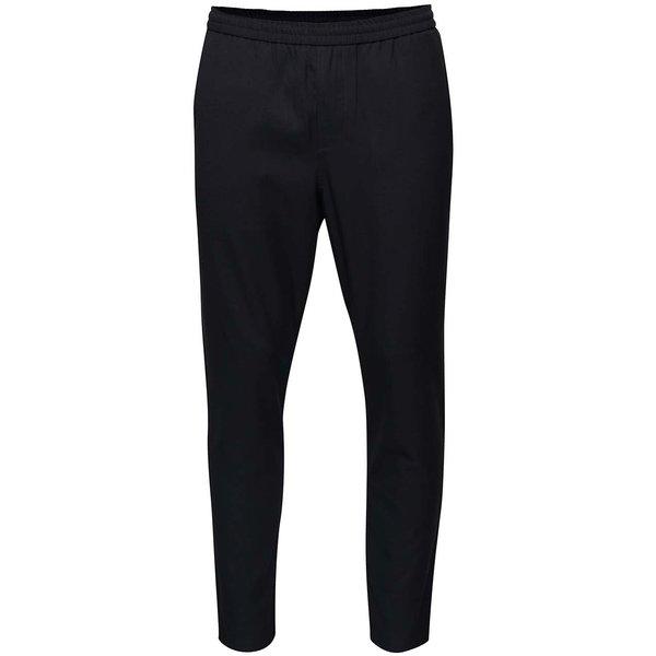 Pantaloni bleumarin cu talie elastica - Selected Homme Key