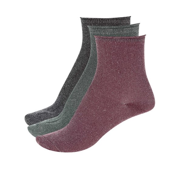 Set de 3 perechi de șosete ONLY Simla de la ONLY in categoria Dresuri si șosete