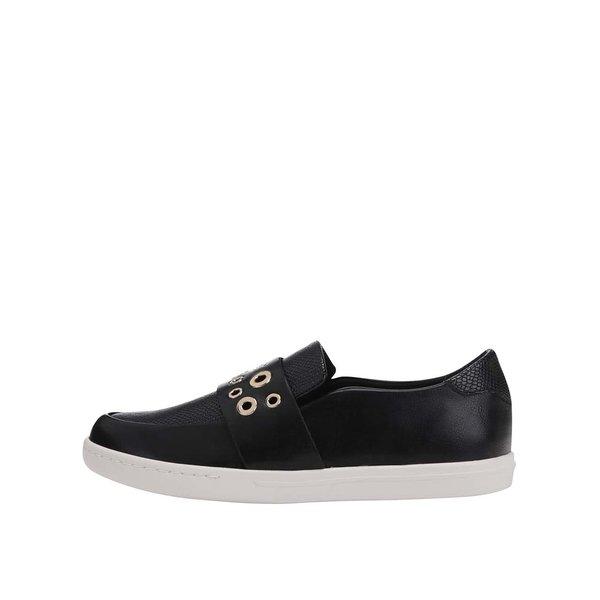 Pantofi din piele negri cu detalii metalice ALDO Satch de la ALDO in categoria pantofi și mocasini