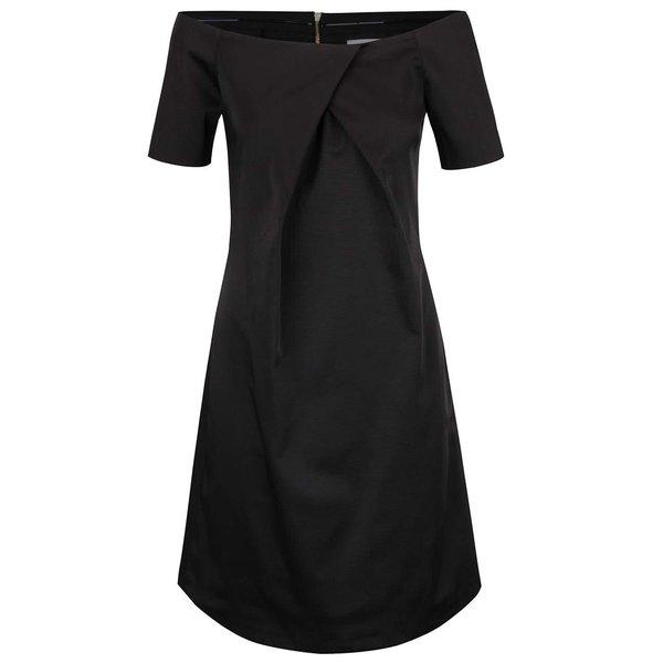 Rochie neagră Closet cu decolteu pe umeri de la Closet in categoria rochii de seară