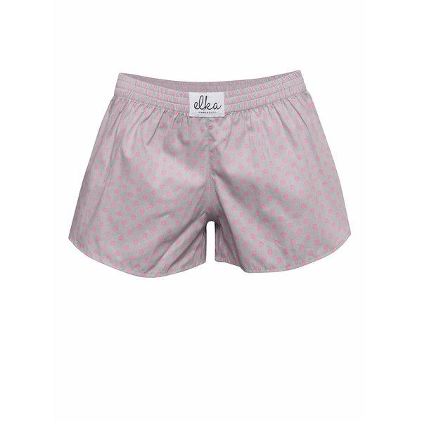 Boxeri de damă El.Ka Underwear gri cu buline de la El.Ka in categoria Lenjerie intimă, pijamale, costume de baie