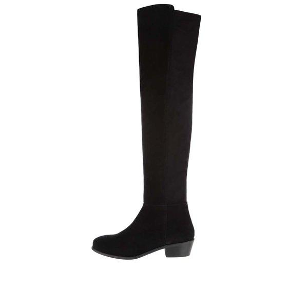 Cizme negre peste genunchi Miss Selfridge din piele întoarsă de la Miss Selfridge in categoria cizme