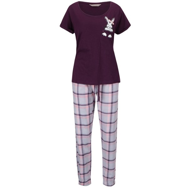 Pijamale roz-violet Dorothy Perkins cu model