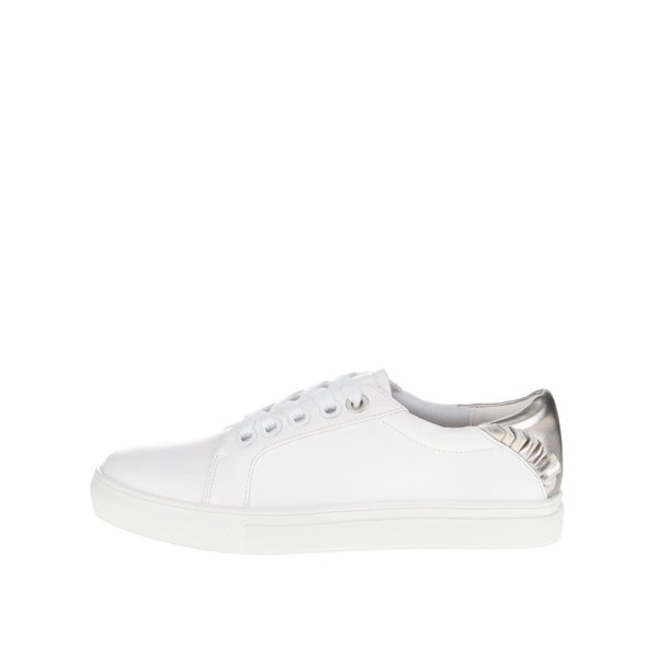Pantofi sport albi cu detalii argintii Dorothy Perkins de la Dorothy Perkins in categoria pantofi sport și teniși